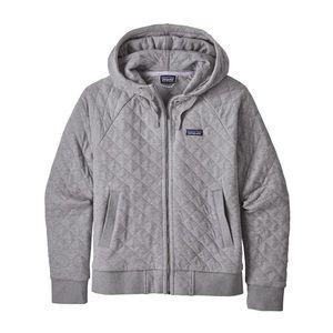 Patagonia quilted zip up hoodie